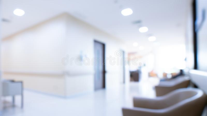 Cozy Waiting Area In Hospital. Soft Cushion Chairs At Hallway Hospital stock photography