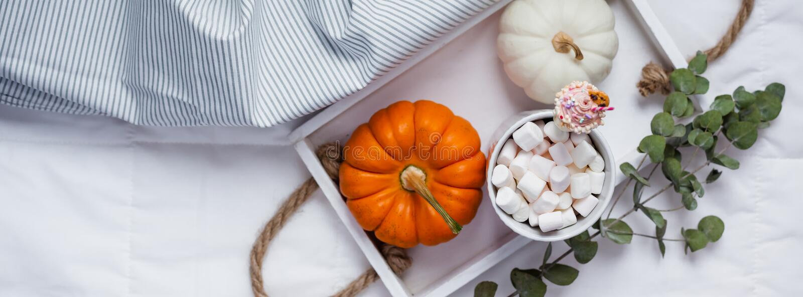 Cozy warm home comfort morning stock image
