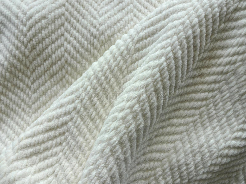 Cozy White Blanket. Comfy White Weave Heavy Throw Blanket stock image