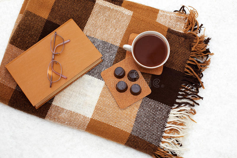Cozy winter home background, royalty free stock photos