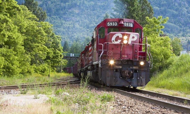 cp内燃机车铁路运输 库存图片