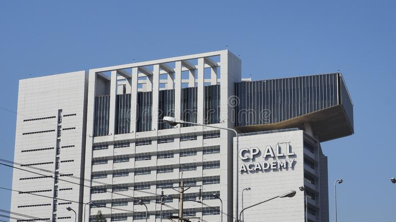 CP ALL Academy building at Panyapiwat Institute of Management. Also known as PIM- on the outskirts of Bangkok on Chaengwattana Road, on January 5, 2020 in stock photo