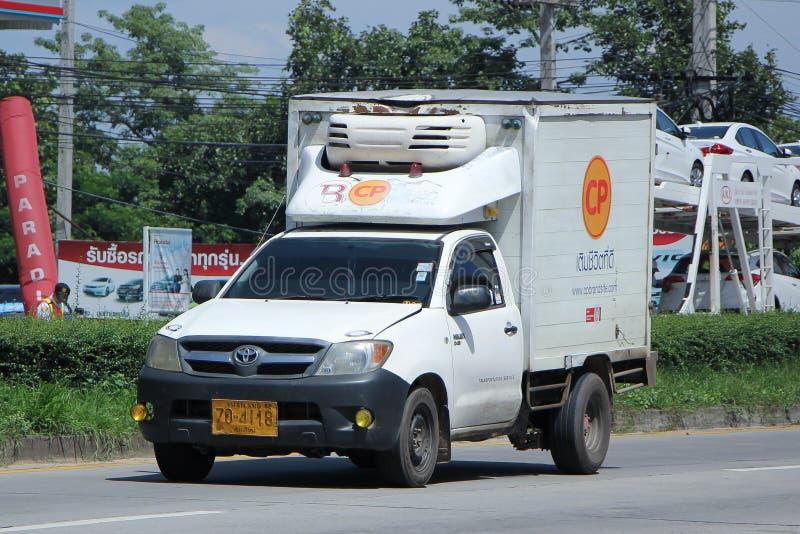 Cp Company被冷藏的容器卡车  库存图片