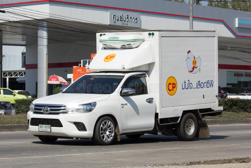 Cp Company被冷藏的容器卡车  免版税库存图片