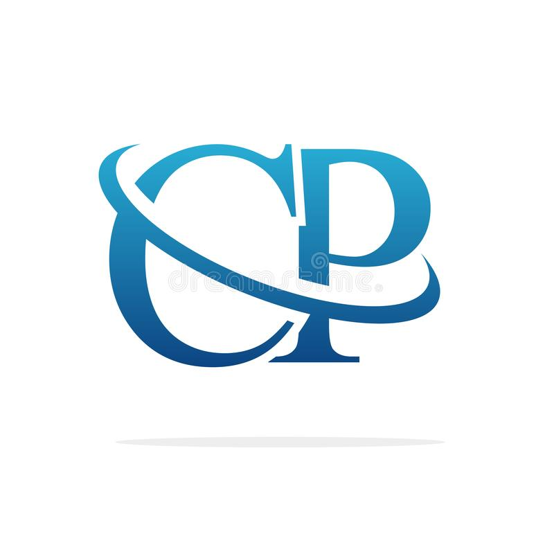 CP het Creatieve vectorart. van het embleemontwerp stock illustratie