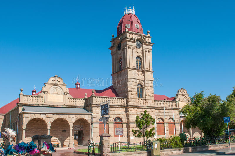 CP Nel Museum in Oudshoorn. OUDTSHOORN, SOUTH AFRICA - JANUARY 2, 2015: CP Nel Museum in Oudshoorn, housed in a historic old school building, the only museum royalty free stock image