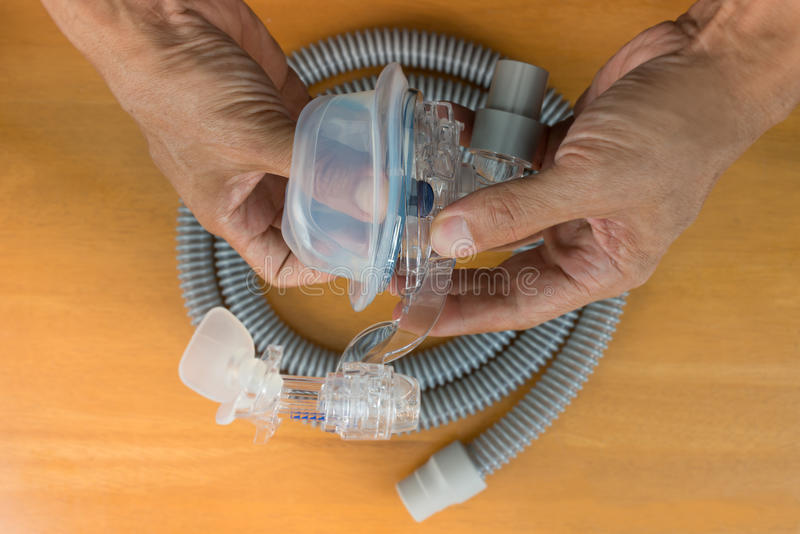 CPAP mask assembly. royalty free stock images