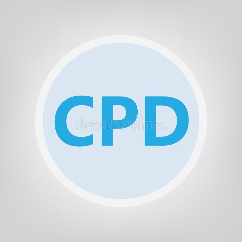 CPD Kontynuuje Fachowego rozwoju pojęcie ilustracja wektor