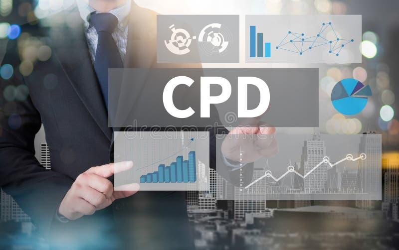 CPD som fortsätter yrkesmässig utveckling royaltyfri foto
