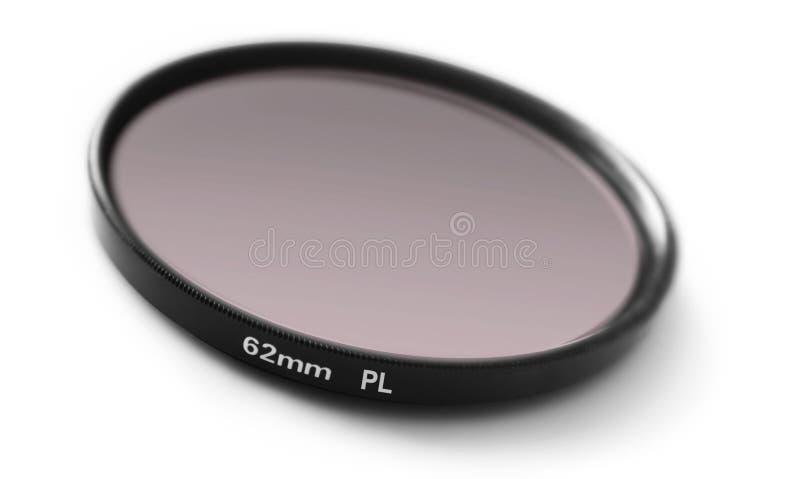 Polar filter. CPL photo filter on white stock image