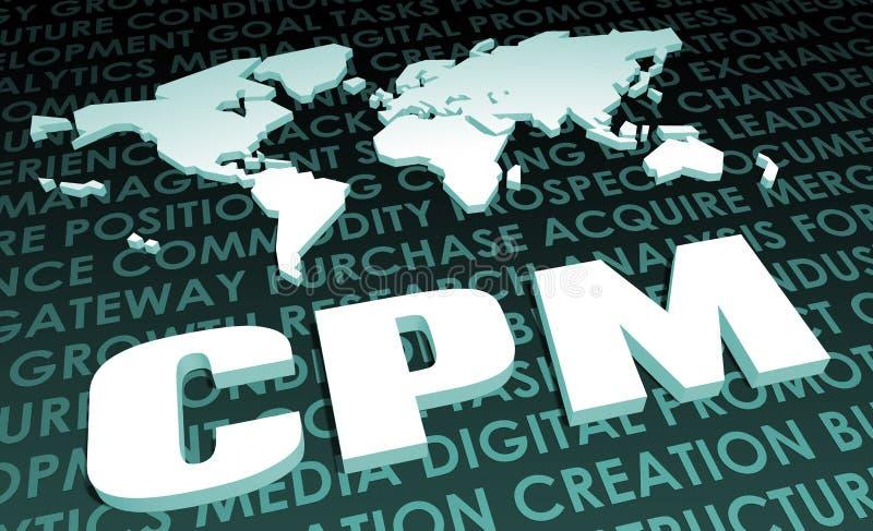 CPM ilustracja wektor