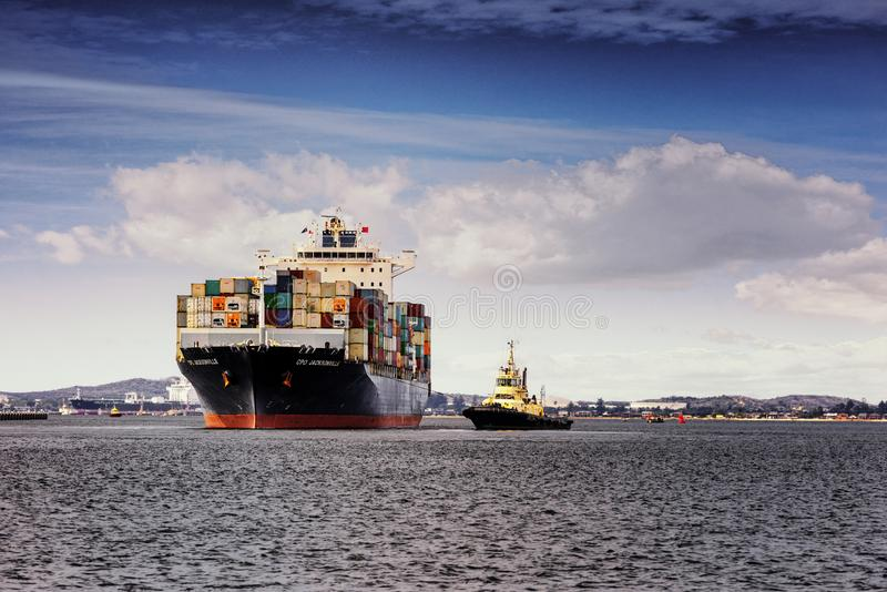 CPO Jacksonville departs Port Botany for Melbourne, Australia stock image