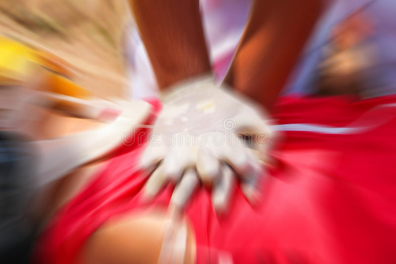 CPR спасителя стоковое фото rf