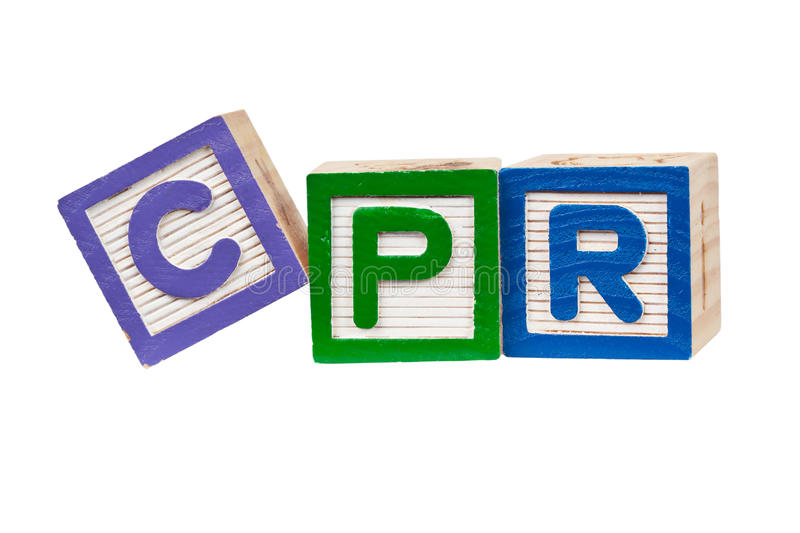 CPR images stock