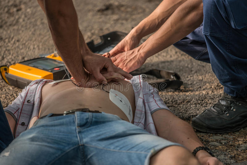 CPR obraz royalty free