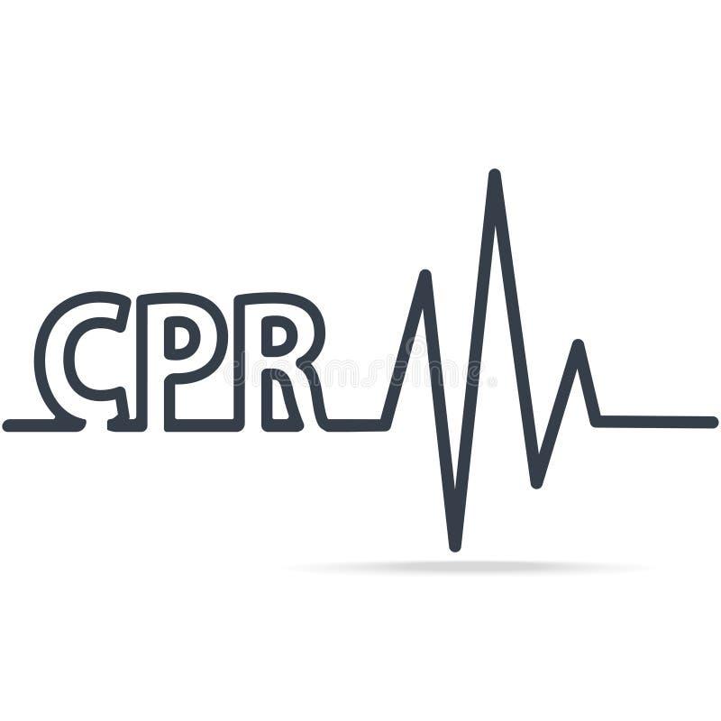 CPR, Herz-Lungen-Wiederbelebung, einfache Linie Ikone Medizinische Zeichenikone vektor abbildung