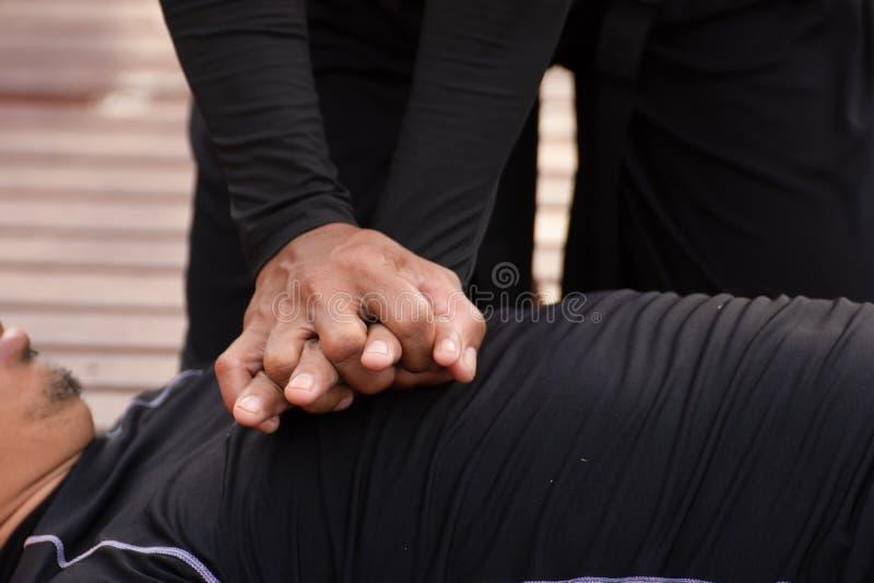 CPR kurs treningowy obraz royalty free