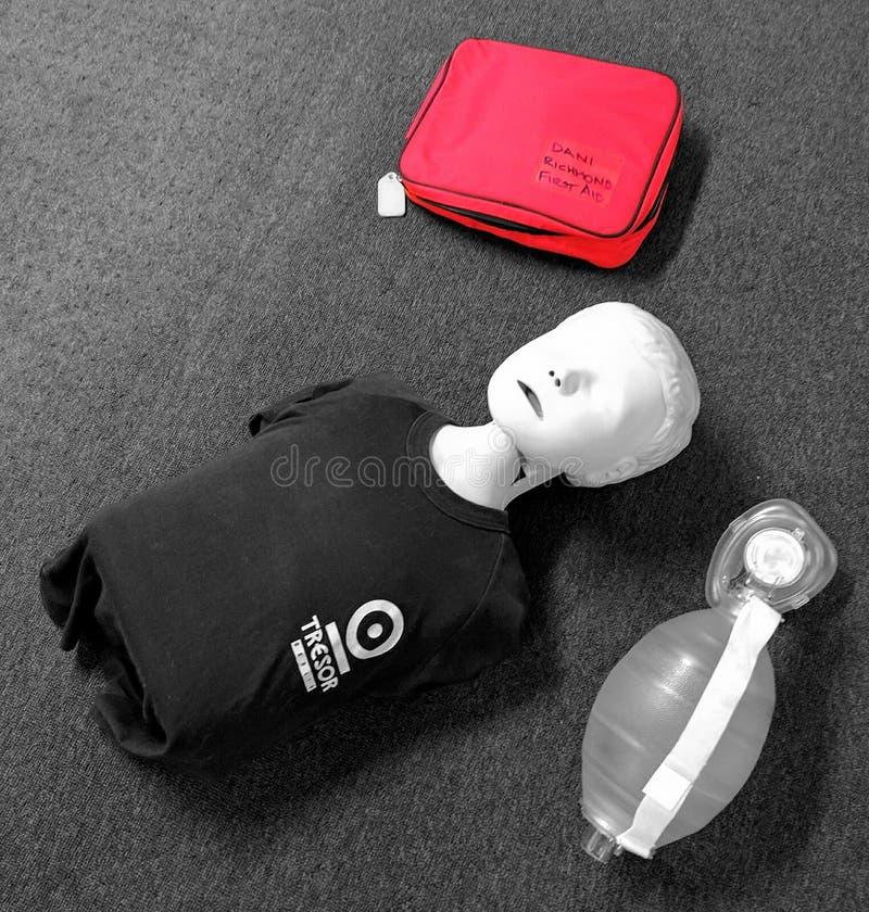 CPR manikin dziecko zdjęcie royalty free