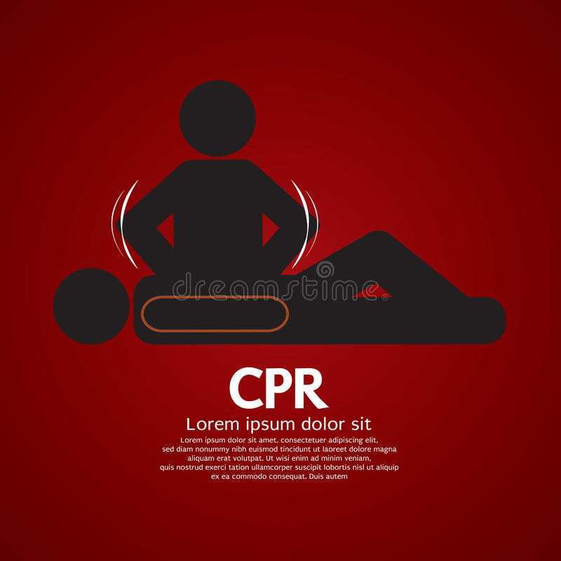 CPR oder Herz-Lungen-Wiederbelebung stock abbildung