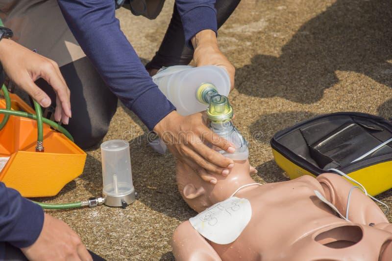 CPR szkolenie fotografia stock
