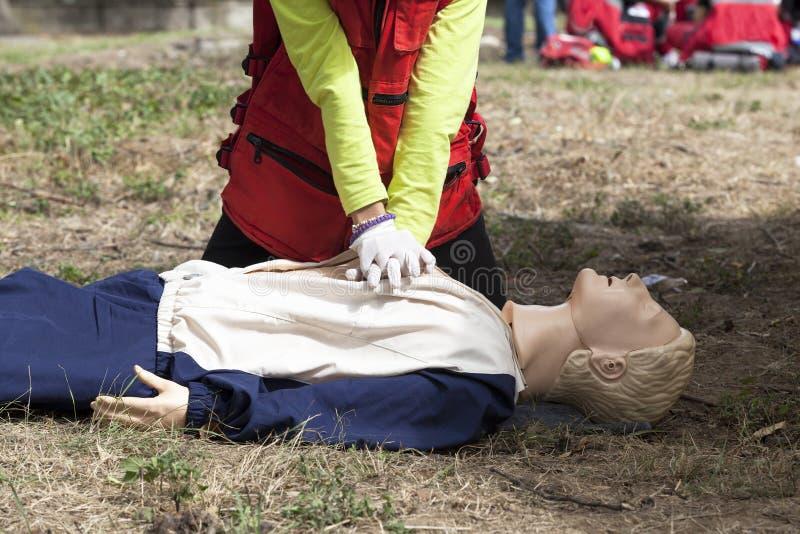 CPR szkolenie obraz royalty free