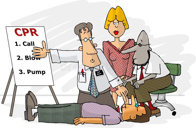 CPR technique stock illustration