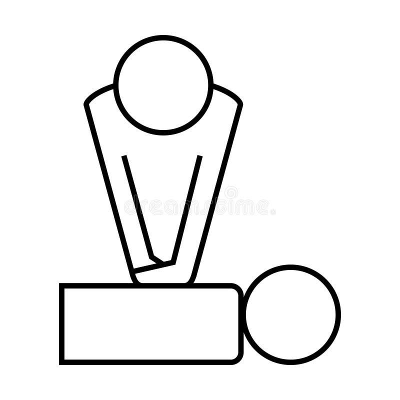 Cpr training icon, Vector illustration royalty free illustration