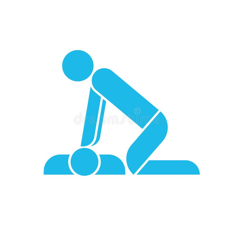 CPR traning ikona ilustracji