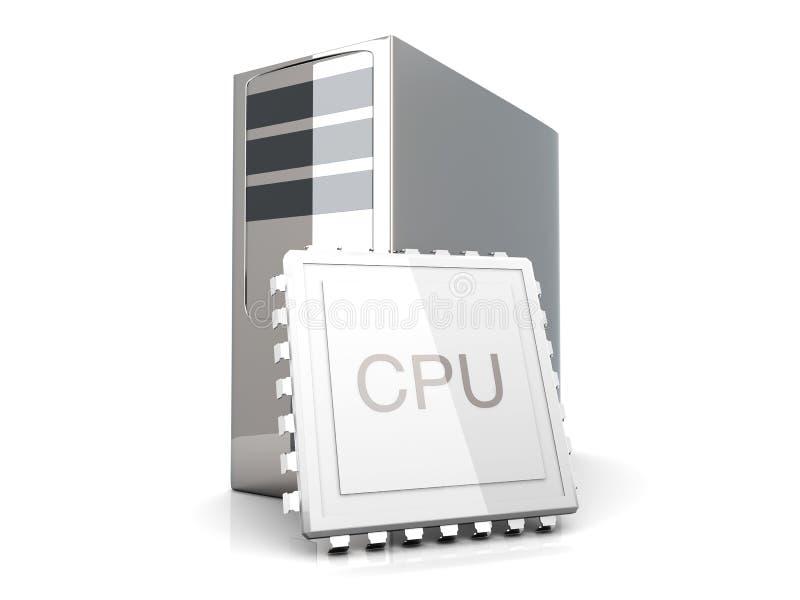 cpu桌面 库存例证