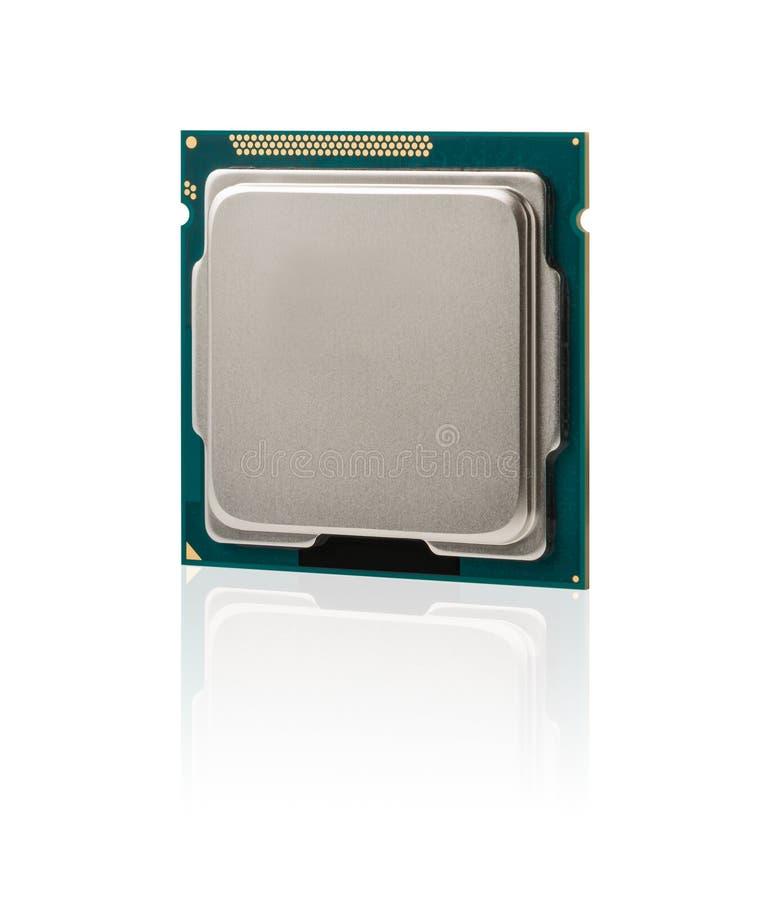 CPU à plusieurs noyaux de processeur d'ordinateur image libre de droits