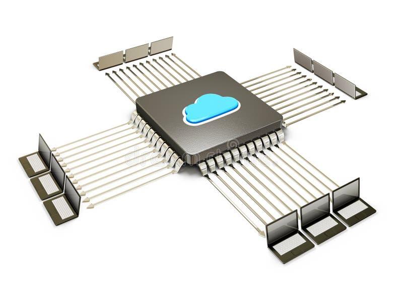 Download CPU stock illustration. Image of macro, cloud, blue, futuristic - 26643756