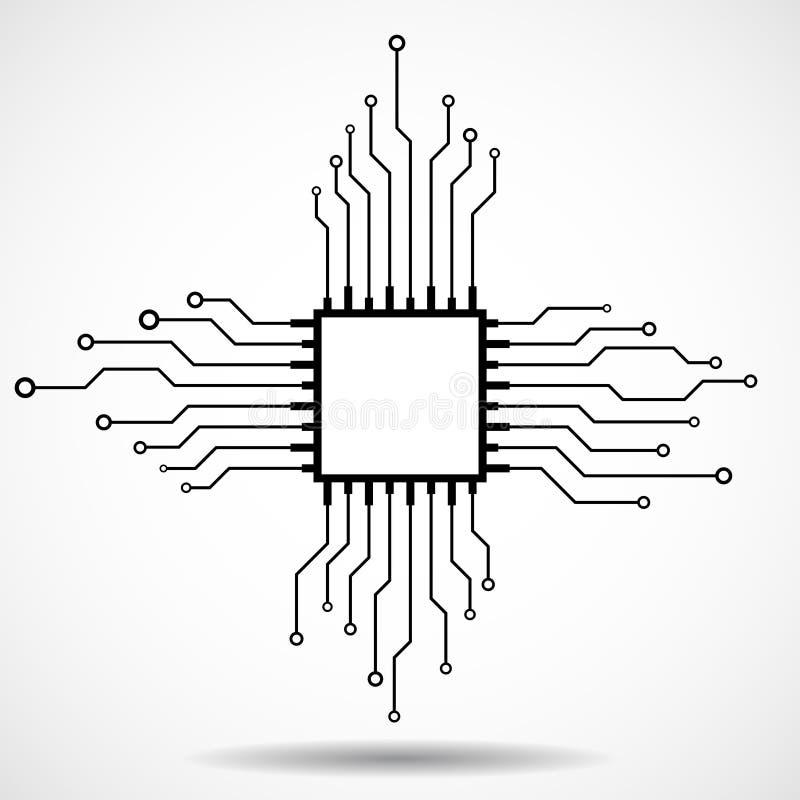 CPU abstracta viruta libre illustration