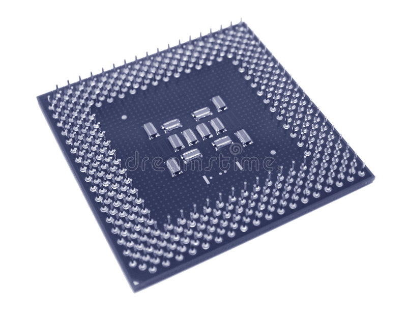 Download CPU azul foto de archivo. Imagen de desktop, tarjetas, virutas - 190310