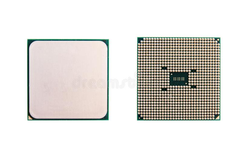 CPU (central processing unit). computer chip processors isolated. On white background with clipping path stock photography