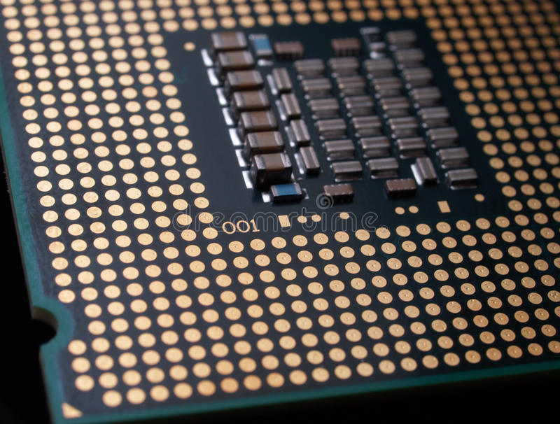 Cpu Chip Detail Royalty Free Stock Images