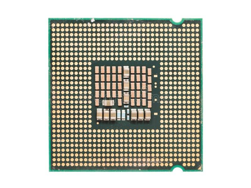 CPU Chip Isolated del ordenador fotografía de archivo libre de regalías