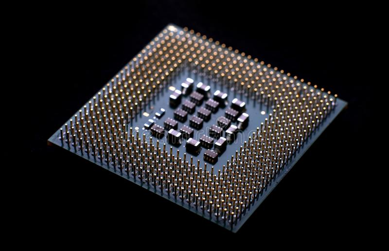 cpu closeup for pc royalty free stock images