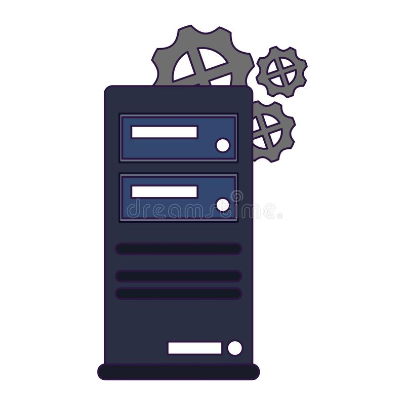 Cpu computer tower technology. Vector illustration graphic design vector illustration
