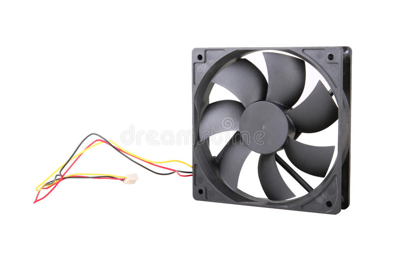 CPU cooler. On white background stock images