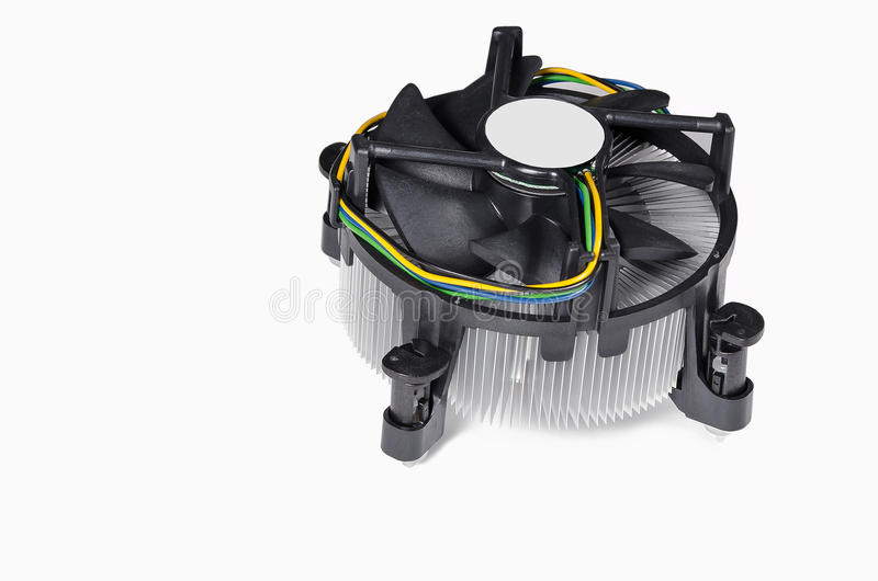 Download CPU Cooler stock photo. Image of cooler, isolated, cable - 28366962