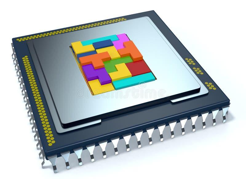 CPU, cpu royalty-vrije illustratie