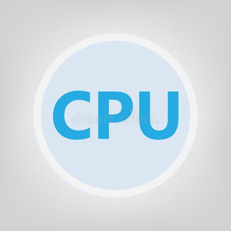 Cpu-CPU vector illustratie