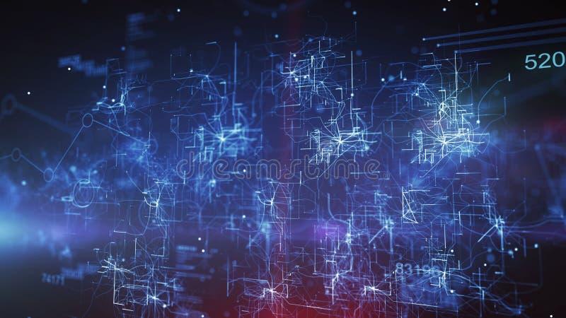CPU de la imagen del ciberespacio en fondo azul libre illustration