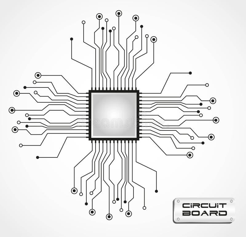 CPU del circuito illustrazione vettoriale
