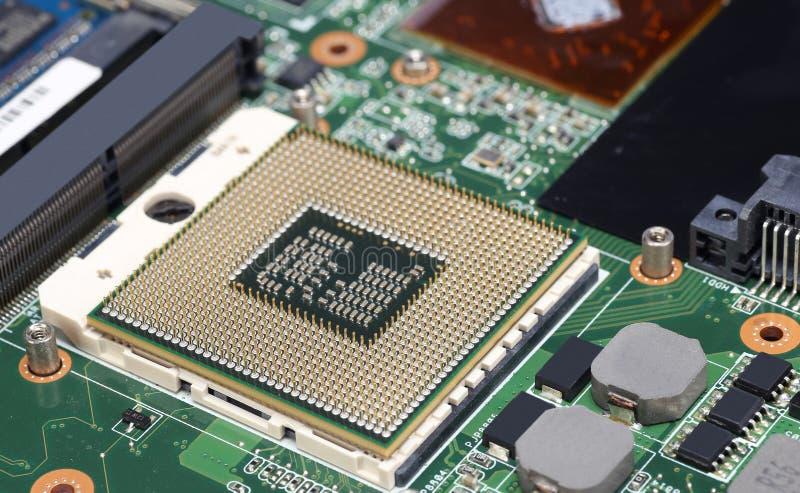CPU del procesador del ordenador foto de archivo