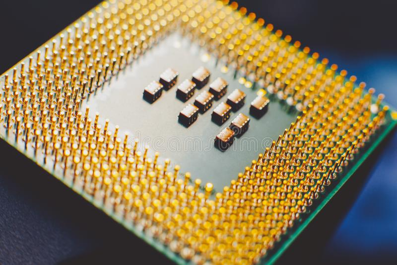 CPU della componente di computer di tecnologia dell'informazione immagini stock