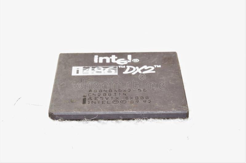 CPU di Intel i486 DX2 fotografia stock libera da diritti