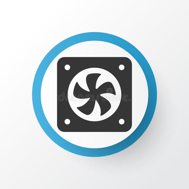 Cpu Fan Icon Symbol. Premium Quality Computer Ventilation Element In Trendy Style. vector illustration