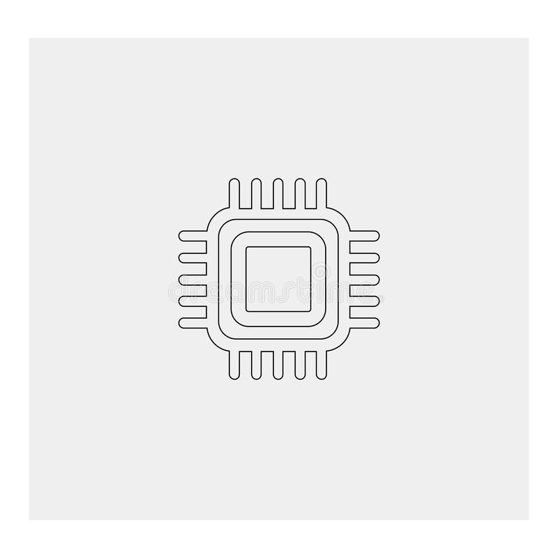 CPU cpu Grijze achtergrond Vector illustratie stock illustratie