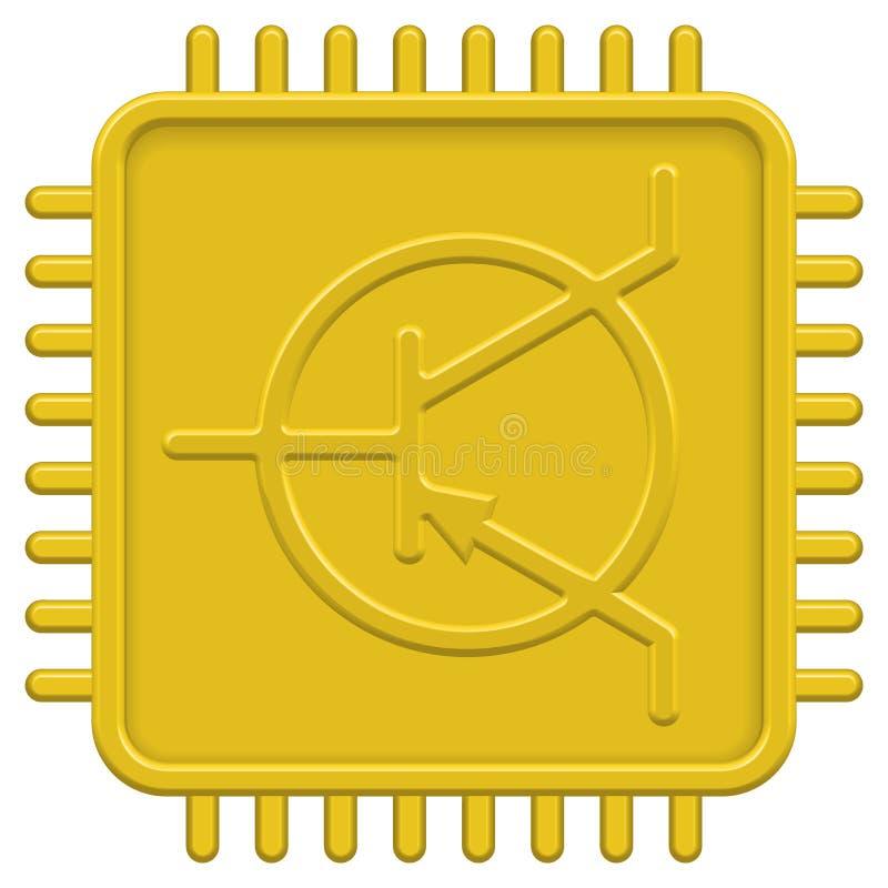 CPU icon royalty free illustration